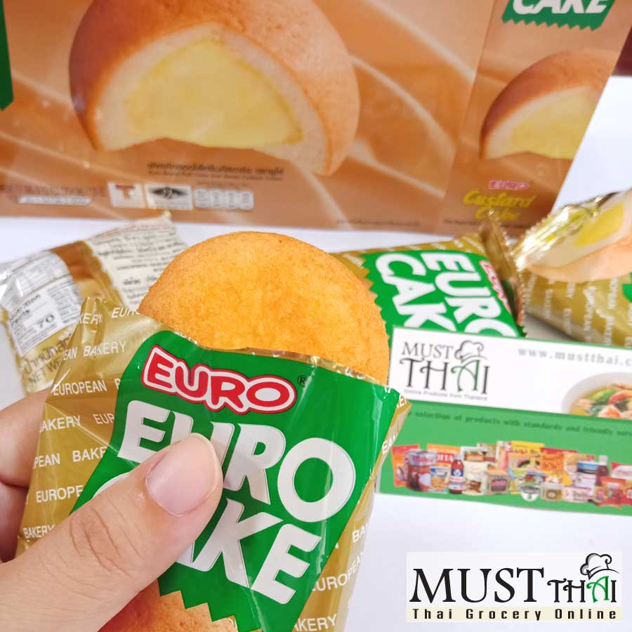 Euro Custard Cake Puff Cake and Sweet Custard Cream box of 12 pieces