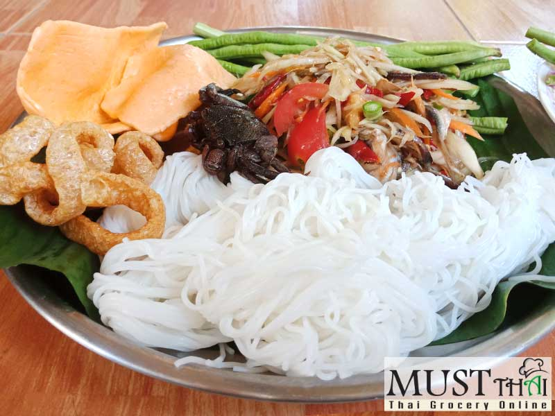 Thai salad that is fairly well known. Thai papaya salad with salted crab