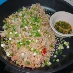 Thai dish Fried rice with naem