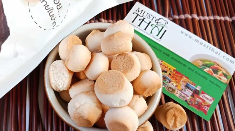 "Thai Classic cookies by Sirichai Brand. OTOP Product Champion number one of Thailand. Mini cookies ""khanom phing"""